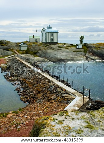 Kobba klintar island in Aland, Finland - stock photo
