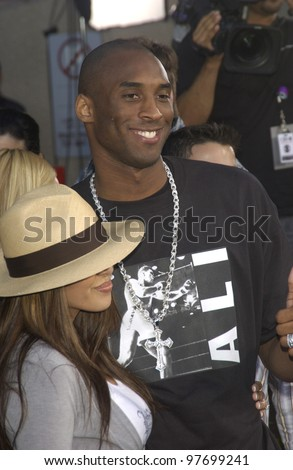 KOBE BRYANT & wife at the Teen Choice Awards in Hollywood. Aug 2, 2003  Paul Smith / Featureflash - stock photo