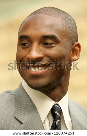Kobe Bryent at the Ceremony Honoring Los Angeles Lakers Owner Jerry Buss with the 2,323rd star on the Hollywood Walk of Fame. Hollywood Boulevard, Hollywood, CA. 10-30-06 - stock photo