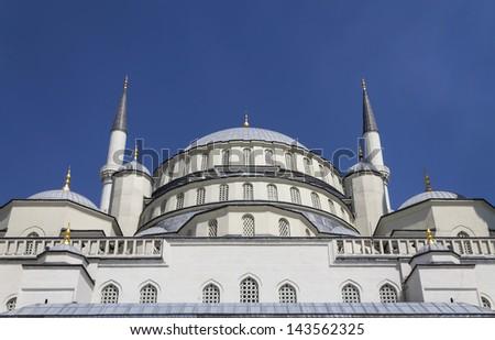 Kocatepe Mosque - Detail Dome, Ankara,Turkey - stock photo
