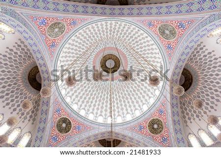 Kocatepe Mosque dome detail - ankara turkey - stock photo
