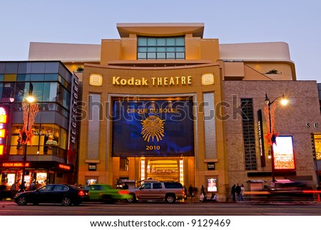 Kodak Theater in Hollywood at night - stock photo