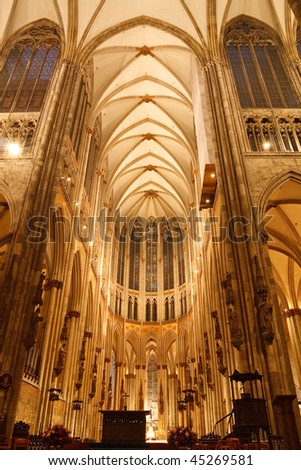 Koelner Dom (Cologne Cathedral) in Koeln (Cologne), Germany. - stock photo