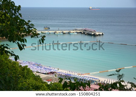 Koh Larn  Harbour in Pattaya, Thailand.  - stock photo