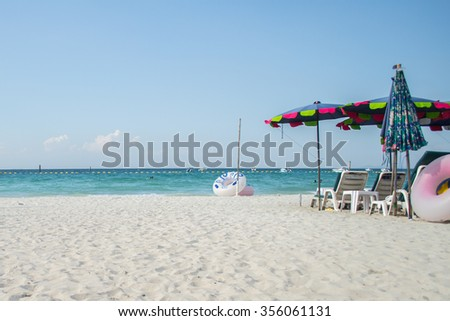 Koh Larn island tropical beach,the most famous island of pattaya city - stock photo