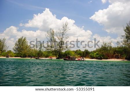 Koh Mook beach, Trang, Thailand - stock photo