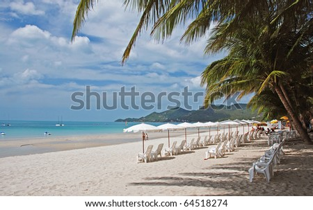 Koh Samui beach, Thailand - stock photo