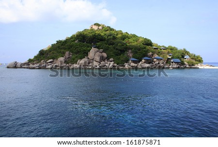 koh tao beach resort - stock photo