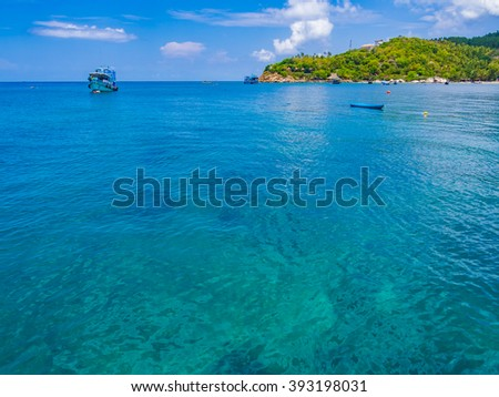 KOH TAO, THAILAND - APR 29: Crystal clear sea water at Koh Tao, Thailand on April 29, 2015. Koh Tao is an island in Thailand and forms part of the Chumphon Archipelago on the Gulf of Thailand.