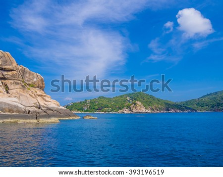 KOH TAO, THAILAND - APR 27: Landscape at Koh Tao, Thailand on April 27, 2015. Koh Tao is a small island centered around tourism, especially scuba diving.