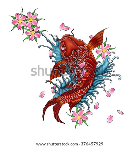 Japanese dragon stock images royalty free images for Dragon koi fish