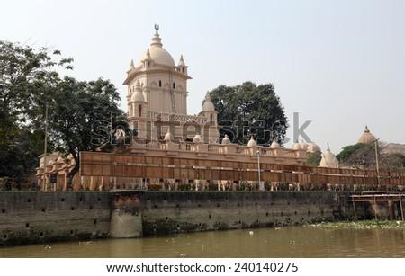 KOLKATA, INDIA - 14th FEBRUARY 2014: Belur Math, headquarters of Ramakrishna Mission, founded by philosopher Vivekananda. - stock photo