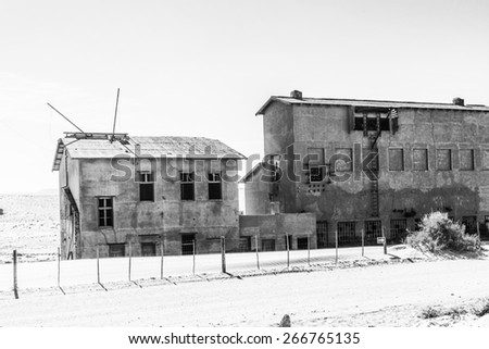 Kolmanskop (Coleman's hill), a ghost town in the Namib desert in southern Namibia - stock photo