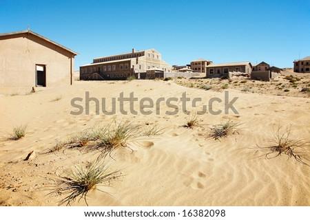 Kolmanskop Ghost Town in Namib Desert, Namibia - stock photo