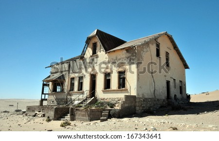 Kolmanskop ghost town (Namibia) - stock photo