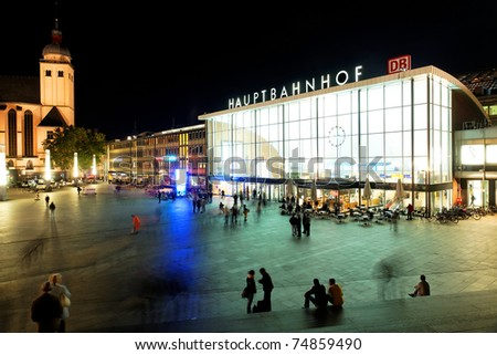 Koln Railway Station, Germany - stock photo