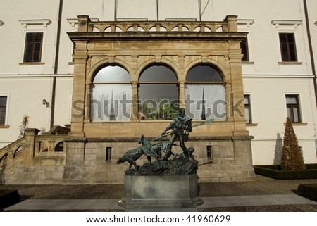 Konopiste entrance - stock photo