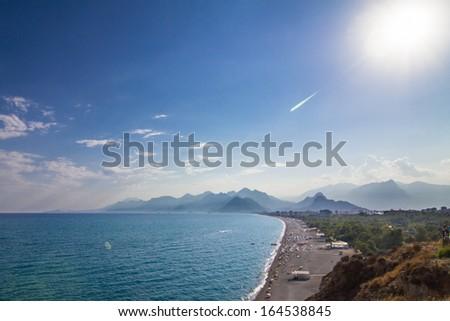 Konyaalti beach, Antalya, Turkey - stock photo