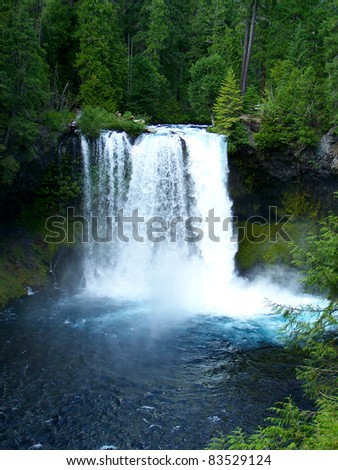 Koosah Falls, McKenzie River, Oregon - stock photo