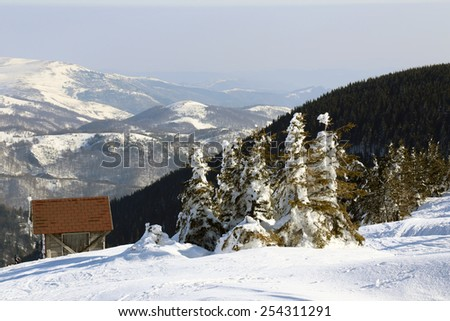 Kopaonik moutain in winter, Serbia