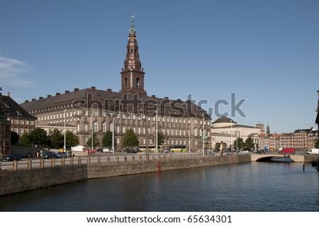 Kopenhagen Slotsholmen Danish Parliament Christiansborg - stock photo