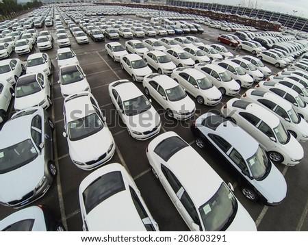 New Cars On Mooring Port Barcelona Stock Photo 539207713