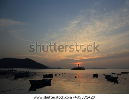 KOREA - JANUARY 10, 2016 : Sa-Gung-Do-Ri Fishing village, Gyeongsangnam-do, Korea