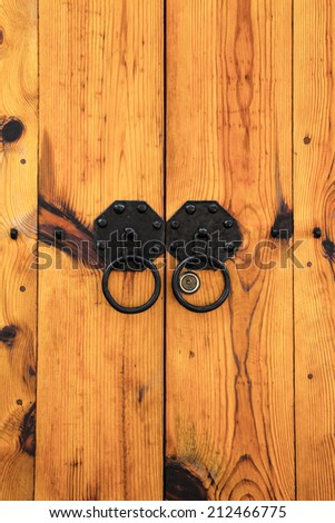korea wooden door - stock photo