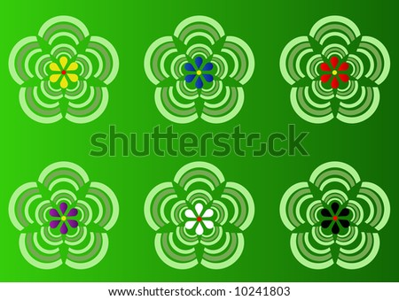 Korean abstract flower pattern - stock photo