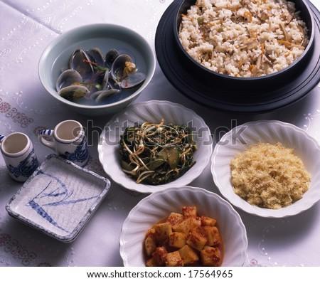 Korean Food - stock photo