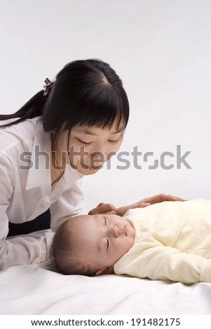 Korean mother and baby