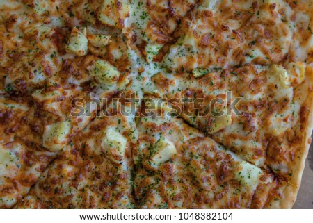 korean sweet potato bulgogi pizza stock photo royalty free