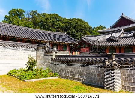 Korean traditional architecture - stock photo