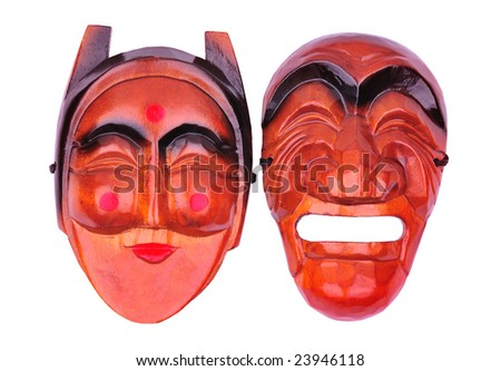 korean traditional mask - stock photo
