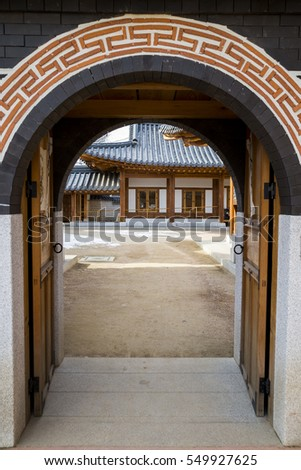 Korean Traditional Roofing Tile House