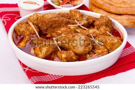 Korma Chicken-3 - stock photo