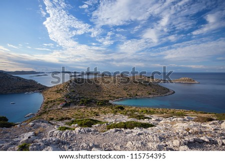 Kornati islands, National park in Croatia, Adriatic sea - stock photo
