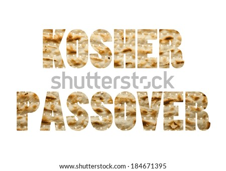 Kosher passover written in Matzo  - stock photo