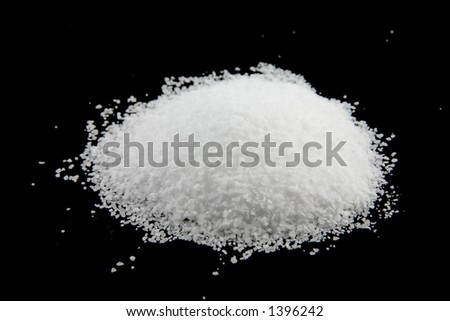 Kosher salt pile - stock photo