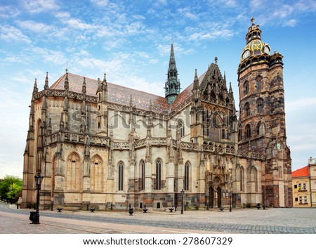 Kosice, Cathedral of St. Elizabeth,  Slovakia - stock photo