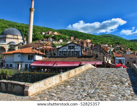 kosovo, prizren urban scene - stock photo