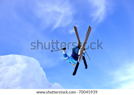 KOSUTKA, SLOVAKIA - JANUARY 23: Lukas Donoval of Slovak republic participates in the Big air January 23, 2011 in Kosutka, Slovakia. - stock photo