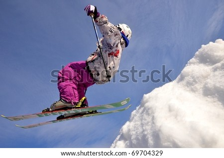 KOSUTKA, SLOVAKIA - JANUARY 23: Roman Kovac of Slovak republic participates in the Big air January 23, 2011 in Kosutka, Slovakia.