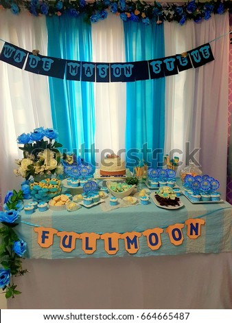 Kota kinabalu sabah malaysia may 20 2017 stock photo download now kota kinabalu sabah malaysia may 20 2017 blue theme dessert table party junglespirit Images