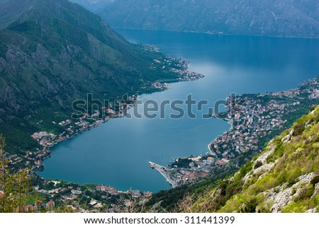 Kotor, Montenegro. View from above.