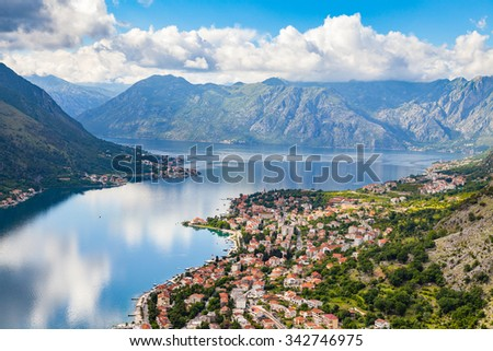 Kotor Old town and bay