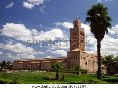 Koutoubia Minaret, Marrakesh, Morocco - stock photo