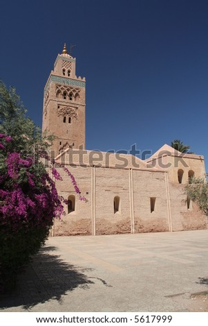 Koutoubia mosque in Marrakesh, Morroco, North Africa