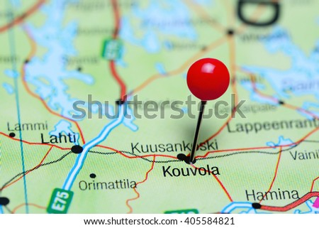 Kouvola Pinned On Map Finland Stock Photo 405584821 Shutterstock