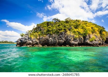 Krabi four islands tour, Thailand - stock photo